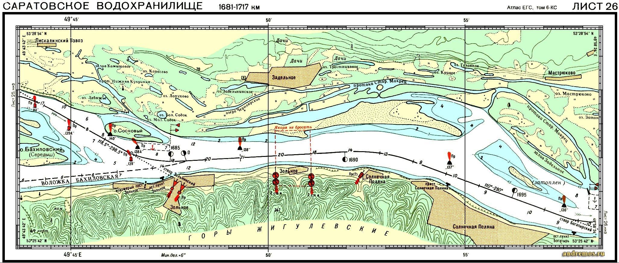 карта мест рыбалки в саратове